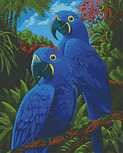 Картина по номерам  Голубые ары 40х50 см 11639-AC Art Craft