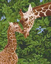 Картина по номерам  Жирафенок с мамой 40х50 см 11637-AC Art Craft