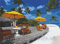 Картина по номерам  Жемчужный пляж. Бора-Бора 40х50 см 10561-AC Art Craft