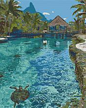 Картина по номерам  Рай на земле 40х50 см 10578-AC Art Craft