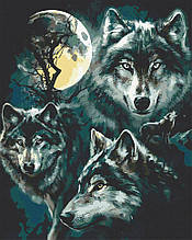 Картина по номерам  Семья волков 40х50 см 11640-AC Art Craft