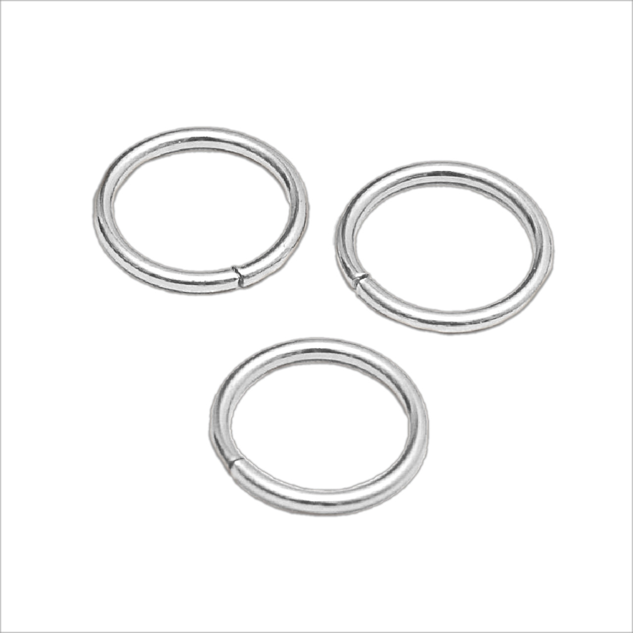 Кольцо соединительное серебро, диаметр 13 мм
