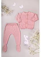 Дитячий в'язаний костюм для  дівчинки 56-74р
