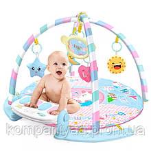 Дитячий музичний килимок з ігровим центром і брязкальцями 0229Y (Рожевий)