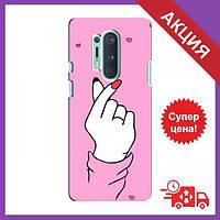 Чехол для OnePlus 8 Pro / Бампер на OnePlus 8 Pro / Чехол для Ван плюс 8 Про (Малиновый фон)
