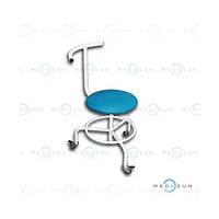 Гвинтовий стілець (стілець лабораторний з опорою для ніг, стілець медичний зі спинкою) СВПС Заповіт