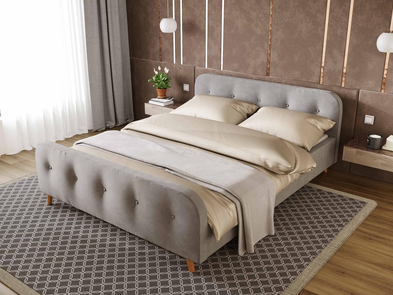 """Кровать с мягким изголовьем  """"Сканди"""" . ТМ Viorina-deko"""