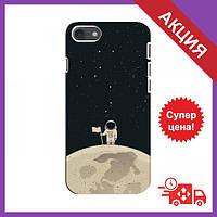 Силіконовий чехол для Айфон 8 / Чохол з зображенням на iPhone 8 / Силіконовий бампер iPhone 8 (Космонавт