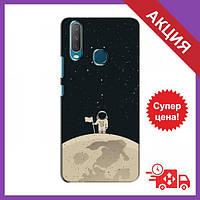 Чохли з принтом на ViVO Y15 / Чохли з картинкою для Віво Вай 15 / Чохли для ViVO Y15 (Космонавт на місяці)