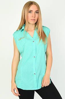 Блуза женская бирюза размер ХL ААА 134546M