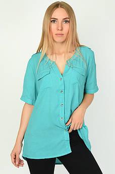 Блуза женская бирюзовая ААА 134516M