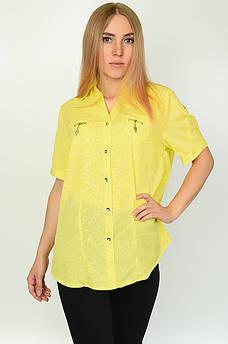 Блуза женская желтая DS 134123M