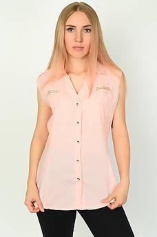 Блуза женская персиковая ААА 134564M