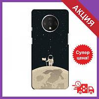 Чохол для OnePlus 7T / Бампер на OnePlus 7T / Чохол для Ван плюс 7Т (Космонавт на місяці)