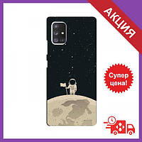 Чехол для Samsung Galaxy A52 / Бампер на Samsung Galaxy A52 / Чехол для Самсунг Гелекси А52 (Космонавт на