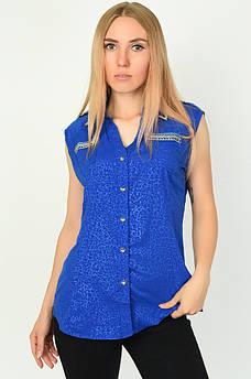 Блуза женская синяя размер  L ААА 134545M