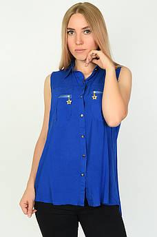 Блуза женская синяя размер XL ААА 134543M