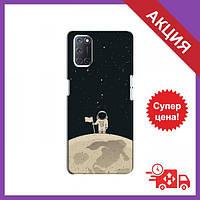 Чохли з принтом на OPPO A52 / Чохли з картинкою для Оппо А52 / Чохли для OPPO A52 (Космонавт на місяці)