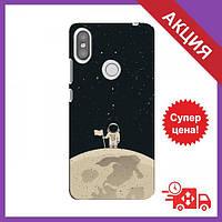 Чехол для Xiaomi Redmi S2 / Бампер на Xiaomi Redmi S2 / Чехол для Сяоми Редми С2 (Космонавт на луне)