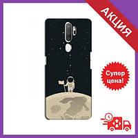 Бампер с принтом для OPPO A11 / Бампер на Оппо А11 / Бампер для OPPO A11 (Космонавт на луне)