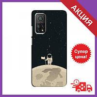Чохол для Xiaomi Mi 10T / Бампер на Xiaomi Mi 10T / Чохол для Сяоми Мі 10Т (Космонавт на місяці)