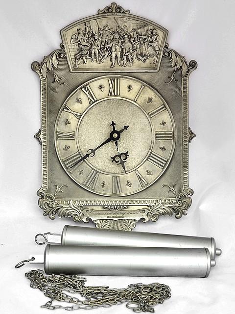 Часы старые настенные оловянные Германия BMF
