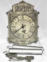 Часы старые настенные оловянные Германия BMF, фото 1