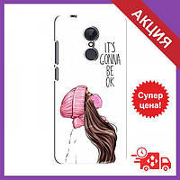 Чехол для Xiaomi Redmi 5 Plus / Бампер на Xiaomi Redmi 5 Plus / Чехол для Сяоми Редми 5 Плюс (Девушка в маске)