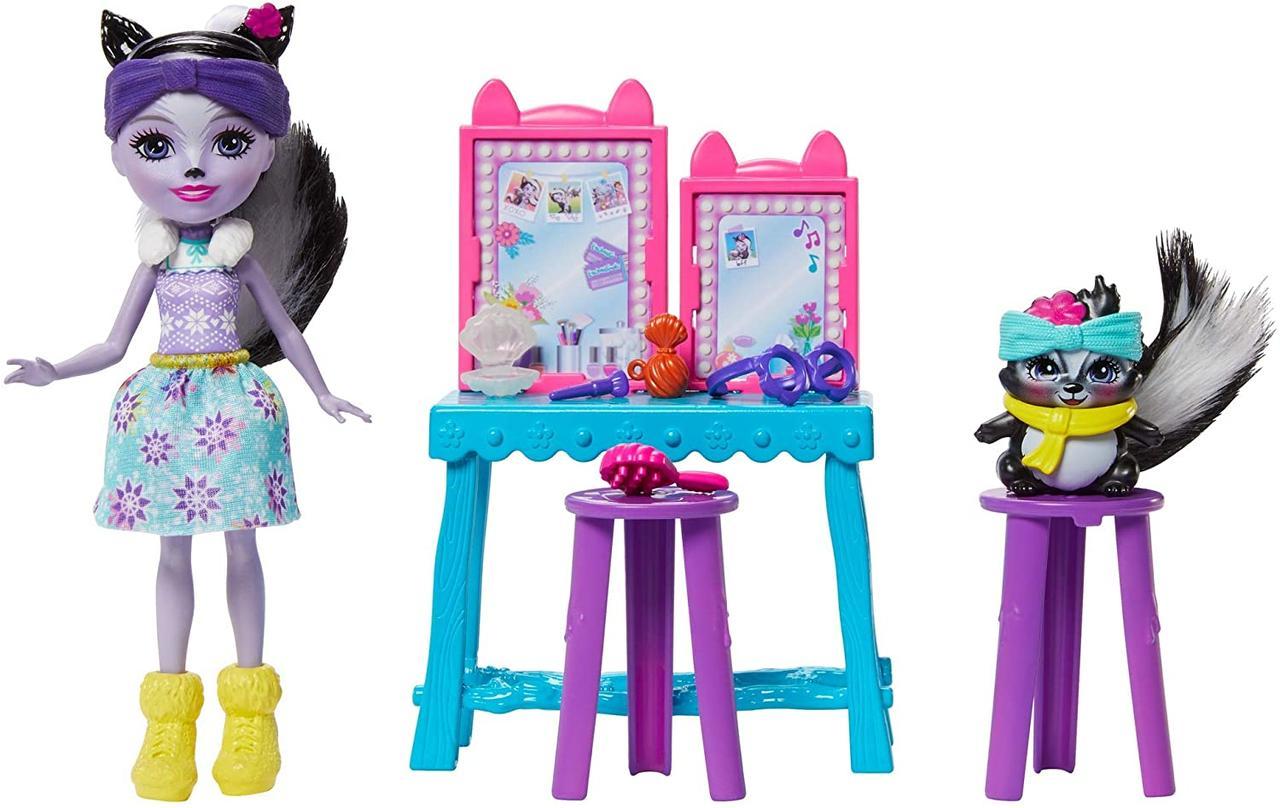 ЭнчантималсТуалетный столик и кукла Сейдж Скунс Enchantimals