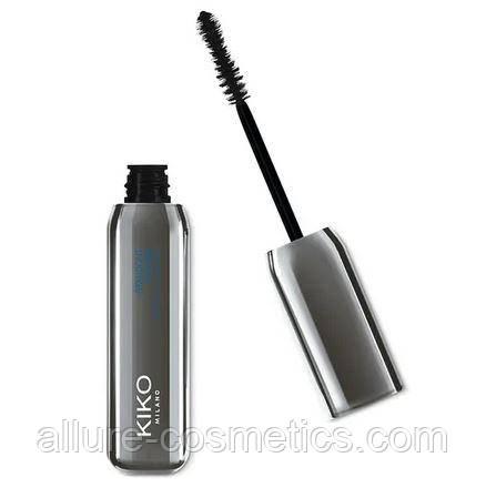 Водостійка туш для об'єму вій Kiko Milano standout waterproof mascara volume