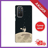 Бампер з принтом для OnePlus 9 Pro / Бампер на Ван плюс 9 Про / Бампер для OnePlus 9 Pro (Космонавт на місяці)
