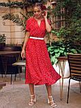 Плаття в горошок з коротким рукавом ЛІТО, фото 5