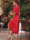 Плаття в горошок з коротким рукавом ЛІТО, фото 6
