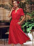 Плаття в горошок з коротким рукавом ЛІТО, фото 3