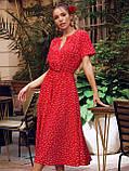 Плаття в горошок з коротким рукавом ЛІТО, фото 4