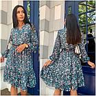 Платье летнее NOBILITAS 42 - 52 черное с розовым шифон (арт. 21029), фото 4