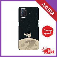 Чохли з принтом на OPPO A92 / Чохли з картинкою для Оппо / Чохли для OPPO A92 (Космонавт на місяці)