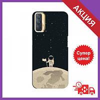 Чехол для OPPO A33 / Бампер на OPPO A33 / Чехол для Оппо А33 (Космонавт на луне)