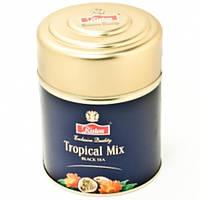 Черный чай Ристон Тропический Микс 80 гр ж/б