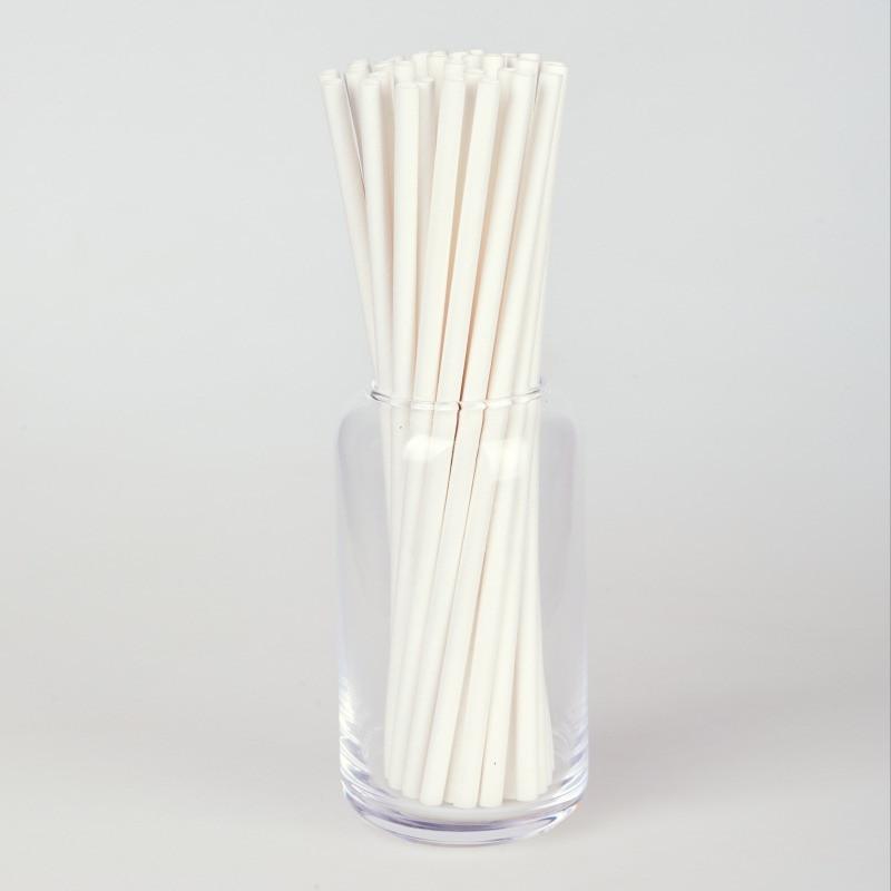 Паперова ЕКО трубочка біла  d5 20см (250шт/уп)(16уп/ящ)