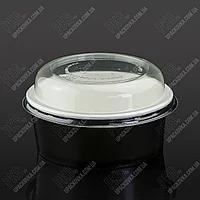 Контейнер паперовий для салату 750 мл Черный (50/400)