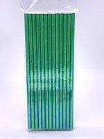 Паперова ЕКО трубочка зелена d5 20см (250шт/уп)(16уп/ящ)
