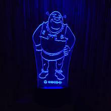 Акриловый светильник-ночник Шрек синий tty-n000478