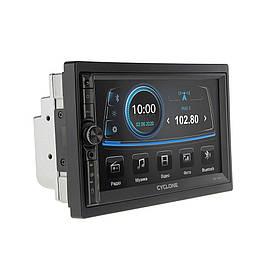 Автомагнитола CYCLONE MP-7124 (Bluetooth, USB, SD, дисплей 7*, 2DIN, +пульт, mp5, 12 мес гарантия)