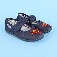 Тапочки в садок на хлопчика, текстильна взуття Vitaliya Віталія Україна розміри 23-27