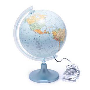 Глобус 250 политико-физический с подсветкой  (немецкий.) 540209
