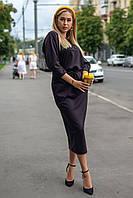 Шикарное женское платье ниже колена Луиза 46-50 размер разные цвета