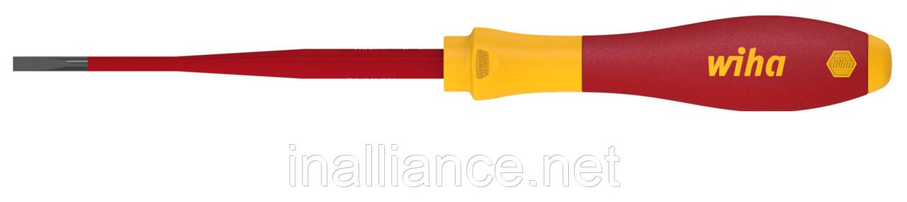 Шлицевая отвертка SL 6,5 x 150 electric slimFix SoftFinish Wiha 35392