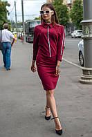 Женское платье до колена Инари с воротничком 48-52 размер разные цвета