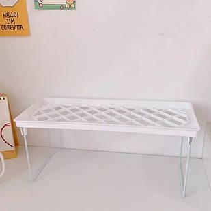 Складная Полка, подставка, стеллаж (белый)